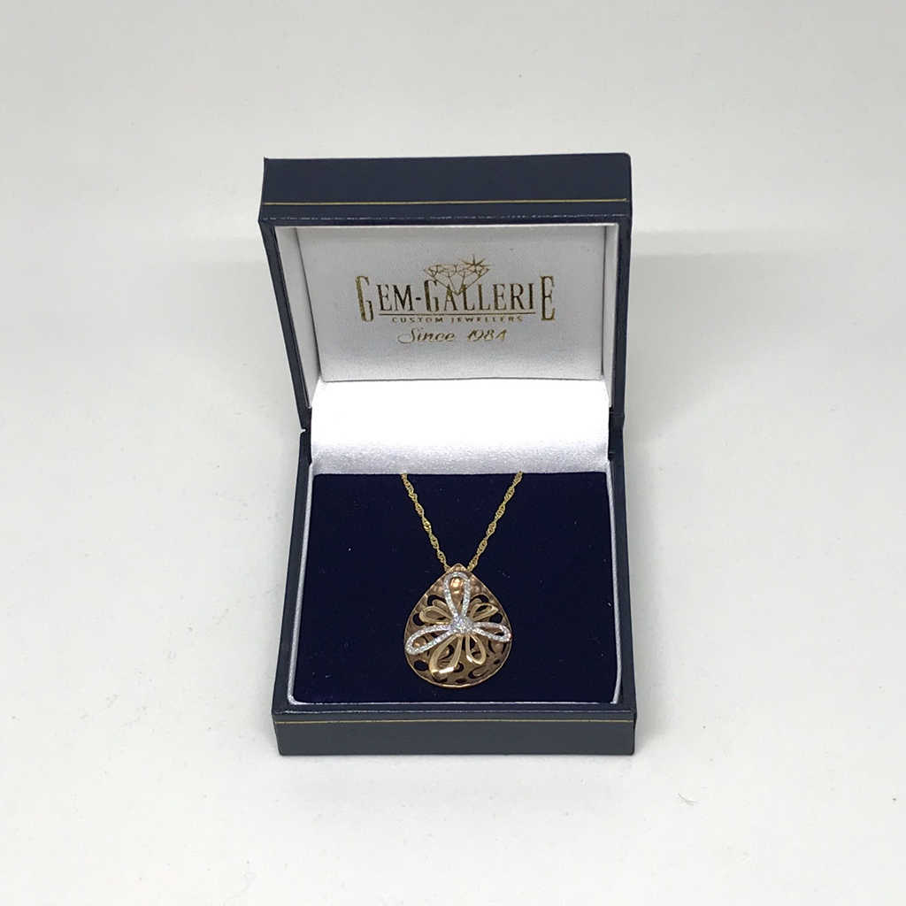 Gold drop pendant