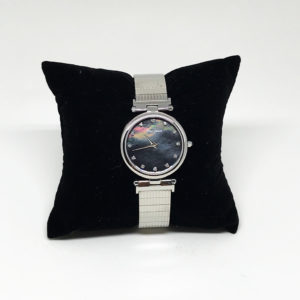 Silver pearl watch