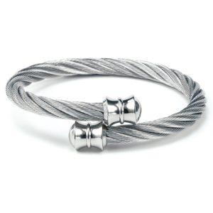 Celtic Rigid Twisted Cable Bangle