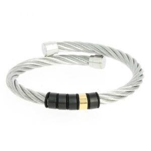 Celtic Rigid Twisted Cable Bracelet Large