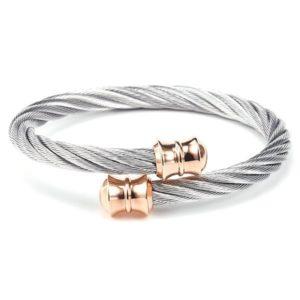 Steel & Rose Celtic Rigid Twisted Cable Bangle